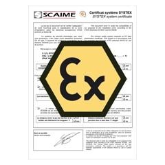 ATEX - SYSTEX certificaat