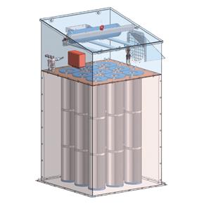 silo-filter mechanisch gereinigd