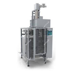 verticale verpakkingsmachine met geïntregeerde pers